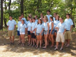 In this group are the five first-year participants in the Delaware Work Camp from from. We had 19 new teens on the trip from the Presbytery.