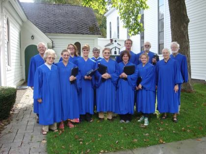 First Sunday with the new blue robes. Planning for our stole making project underway.